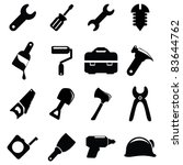 working tools icon set | Shutterstock .eps vector #83644762