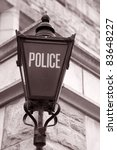 Tradtional Police Sign in England, UK - stock photo