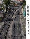 Railway Track Junction in Swange, Dorset, England, UK - stock photo