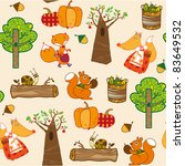 autumn forest seamless pattern | Shutterstock .eps vector #83649532