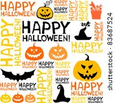 halloween seamless background... | Shutterstock .eps vector #83687524