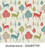 christmas deer  vintage vector...   Shutterstock .eps vector #83689759