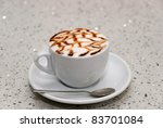 italian cappuccino decorated... | Shutterstock . vector #83701084