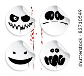 monster smileys on blood... | Shutterstock .eps vector #83710549