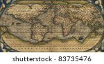antique map of the world  ... | Shutterstock . vector #83735476