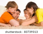 nice family of a four on a... | Shutterstock . vector #83739313