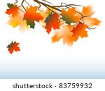 abstract background with autumn ... | Shutterstock .eps vector #83759932