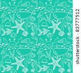 marine seamless pattern ... | Shutterstock .eps vector #83777512