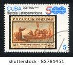 cuba   circa 1987  a stamp... | Shutterstock . vector #83781451