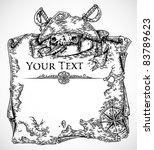 vector black and white engraved ... | Shutterstock .eps vector #83789623