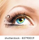 Close Up Colourful Human Eye...