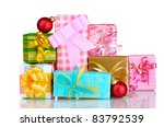 beautiful bright gifts and... | Shutterstock . vector #83792539