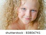 little cute baby portrait | Shutterstock . vector #83806741