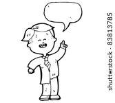 cartoon school boy with speech... | Shutterstock .eps vector #83813785