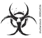 biohazard symbol on white... | Shutterstock .eps vector #83816536