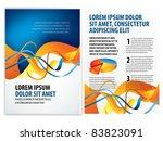 vector business brochure ... | Shutterstock .eps vector #83823091
