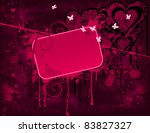 Grunge Background And Pink...