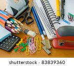 school office supplies | Shutterstock . vector #83839360
