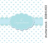 baby invitation card with your... | Shutterstock .eps vector #83841403