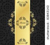 vintage menu vector background... | Shutterstock .eps vector #83843143