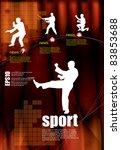 karate warrior | Shutterstock .eps vector #83853688