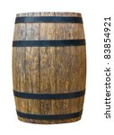 wooden barrel for beverage.... | Shutterstock . vector #83854921