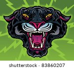Retro Panther Tattoo - stock vector