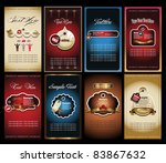 business card collection | Shutterstock .eps vector #83867632