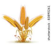 wheat sheaf arrangement | Shutterstock .eps vector #83890261