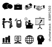 set of business icons | Shutterstock .eps vector #83891503