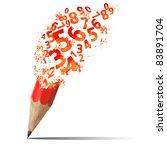 creative splash  pencil with...   Shutterstock . vector #83891704