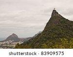 Statue of Christ on top of Corcovado Mountain in Rio de Janeiro, Brazil - stock photo