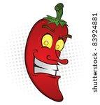 smiling chili pepper cartoon... | Shutterstock .eps vector #83924881