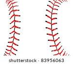 illustrated baseball seams...   Shutterstock . vector #83956063