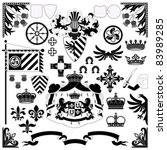 heraldic set for your design... | Shutterstock .eps vector #83989285