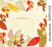 abstract autumn  leaf... | Shutterstock .eps vector #83991418