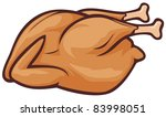 whole roast chicken | Shutterstock .eps vector #83998051
