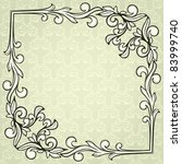 vintage frame on damask... | Shutterstock .eps vector #83999740