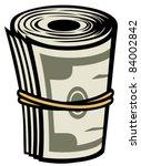 Money Roll Vector Illustration