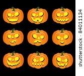pumpkin  halloween head | Shutterstock .eps vector #84011134