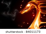 Abstract Fire Dragon