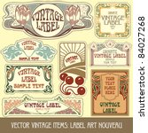 vector vintage items  label art ... | Shutterstock .eps vector #84027268