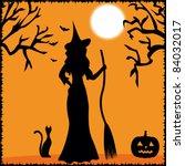 halloween witch | Shutterstock .eps vector #84032017