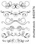 illustration of retro patterns | Shutterstock .eps vector #8403976
