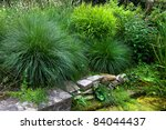 Beautiful Garden. Green Lawn In ...