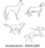 abstract,anger,animal,art,basic,black,brush,cartoon,collection,contour,design,doberman,dog,domestic,doodle