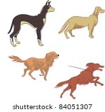 abstract,anger,animal,art,basic,black,brush,cartoon,collection,color,contour,design,doberman,dog,domestic