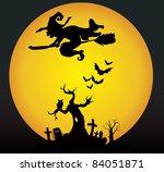 halloween night | Shutterstock .eps vector #84051871