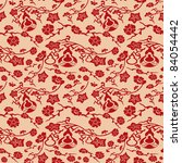 chinese pattern background | Shutterstock .eps vector #84054442