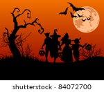 halloween background with... | Shutterstock .eps vector #84072700